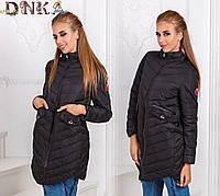 Стеганная женская курточка на молнии
