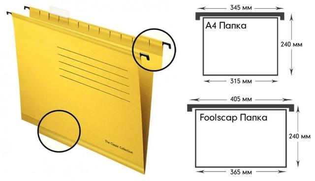 Подвесная папка для картотеки металлической