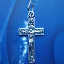 Серебряный крестик с распятием, 3,6 грамма, фото 3