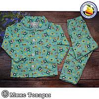 Детская байковая пижама для мальчика и девочек Размеры: 4-5-6 лет (5721-5)