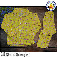 Байковая пижама для мальчика и девочек Размеры: 4-5-6 лет (5721-6)