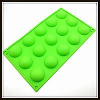 Силиконовая форма Полусфера 15 шт 29*17 см