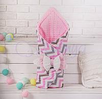 Конверт-одеяло на выписку, indigo розовый