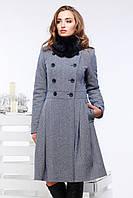 """Женское демисезонное пальто """"Мейдлин """"мутон"""