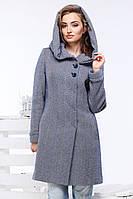 Красивое шерстяное пальто Ада с капюшоном застегивается на пуговицы