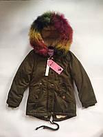 Зимняя куртка для девочки Nature Венгрия размер 10/11-16/17