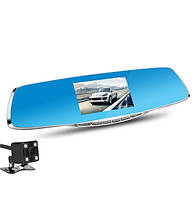 Зеркало видео-регистратор с камерой заднего вида + видео парковка. Экран 4.3 дюйма + Карта памяти 32Гб Class10