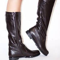 Женские сапоги без каблука.