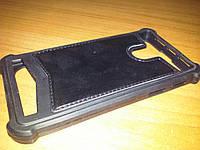 """Чехол накладка универсальный бампер силикон + кожа 5 - 5.3"""""""