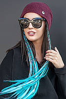 Женская шапка ангора. Под хвост., фото 1