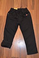 УТЕПЛЁННЫЕ,Чёрные, Котоновые  брюки на флисе для мальчиков.Размеры 4-12.Фирма S&D.
