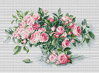 """Набір для вишивання хрестиком """"Букет чайних роз"""""""