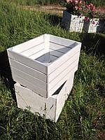 Ящик тара деревянный (50х40х30 см) универсальный декоративный от производителя (Белый)
