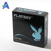 Презервативы точечные классической формы Playboy Dotted 3 шт в упаковке