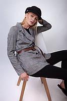 Дизайнерский женский пиджак в клетку