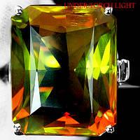 """Крупный прямоугольный перстень с султанитом   """"Муромец"""", размер 18 от студии LadyStyle.Biz"""