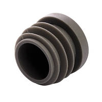 Заглушка D=32 мм для круглой трубы серая