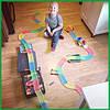 Magic Tracks гнущий светящийся трек 165 деталей, Меджик трек гоночная трасса, конструктор - подарок для детей, фото 2