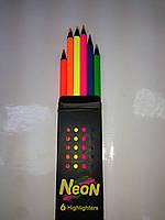 Карандаши цветные Marco Неон 6 цветов