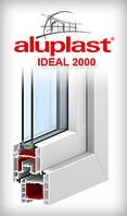 Окно металлопластиковое  профиль Aluplast 3 кам. размер 2100х1400 мм 3 стекла энерго