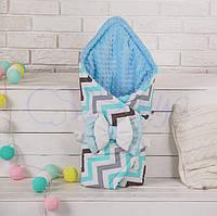 Конверт-одеяло на выписку, indigo голубой