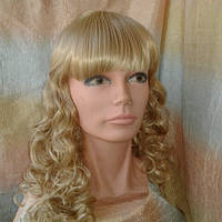 Парик длинный кучерявый WT606 платиновый блонд