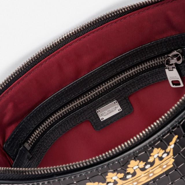 Мужская барсетка из натуральной принтованной кожи Dolce&Gabbana