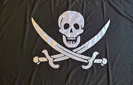 Пиратский флаг Калико Джека (Аппликация) - (1м*1.5м), фото 2