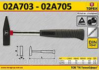 Молоток столярный металлическая рукоятка m-500гр,  TOPEX  02A705