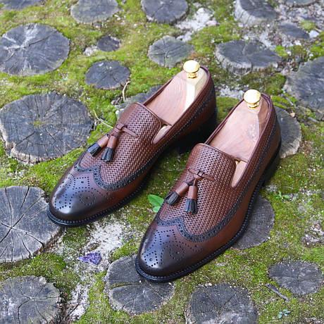 Турецкие мужские кожаные туфли лоферы  40-44 размер