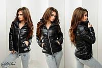 Женская куртка Nike Найк ткань плащевка на синтепоне 150 цвет черный