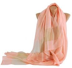Шелковый женский шарф 200х70 см Trаum 2495-62 розовый