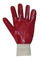 Перчатки с полным ПВХ обливом МБС красные Seven WV-1003 69217