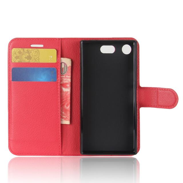 чехол книжка Sony Xperia XZ1 Compact красный