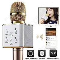 Караоке-микрофон Bluetooth Q7 GOLD, фото 1