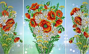 """Схема-триптих для вышивки бисером """"Полевые цветы"""""""