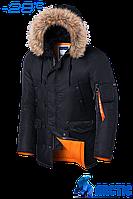 Парка мужская зимняя Braggart Arctic - 4576R черная