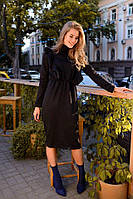 Черное женское платье с крылышками