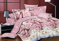 Семейный комплект постельного белья сатин (8255) TM KRISPOL Украина