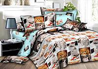 Двуспальный комплект постельного белья 180*220 сатин (8235) TM KRISPOL Украина
