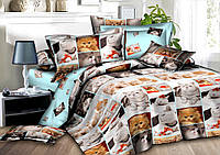 Семейный комплект постельного белья сатин (8253) TM KRISPOL Украина