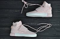 Женские кроссовки Adidas Tubular Invider Pink White