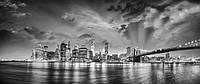 Стеклянный фартук для кухни - скинали Нью-Йорк