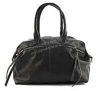 Вместительная женская стильная сумка саквояж art. 89978-1 черная