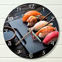 "Настенные часы на кухню - ""Сашими"" (на пластике)"