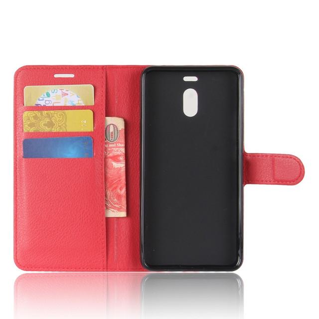 чехол книжка Meizu M6 Note красный