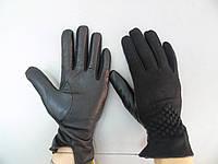 Перчатки кашемир-кожа женские