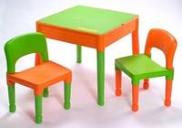 Описание Столик с двумя стульчиками Tega MT-003 698 Green/orange