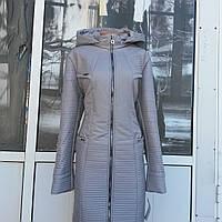 Осенний женский молодежный куртка   плащ  с приталенным силуэтом