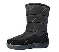 Жіночі зимові дутики чоботи на хутрі (А-22ч)